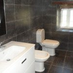 Bathroom with larger tiles and walk in shower